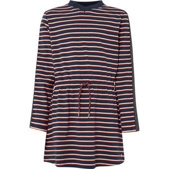 TOM TAILOR Sweatkleid Sweat-Kleid mit Glitzertapes