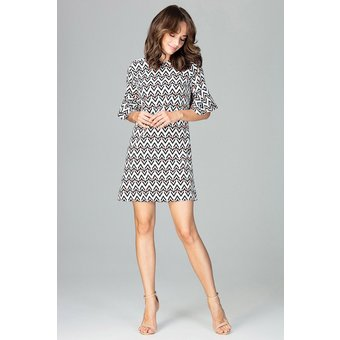 LENITIF Kleid mit aufregendem Allover-Muster