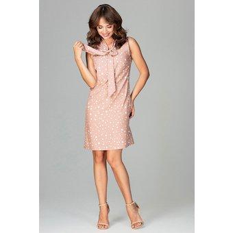 LENITIF Kleid mit modischem Punkte-Muster