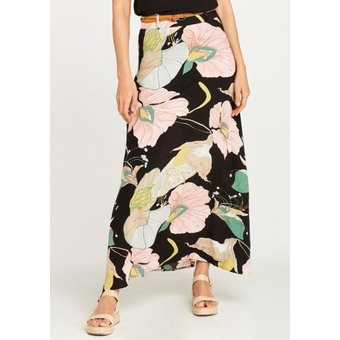 Apricot Maxirock Pond Abstract Floral Maxi Skirt
