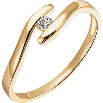 Firetti Diamantring Verlobung modern ca 190 mm breit Glanz massiv