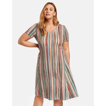 Samoon Kleid Gewirke Shirtkleid mit Multicolor-Streifen