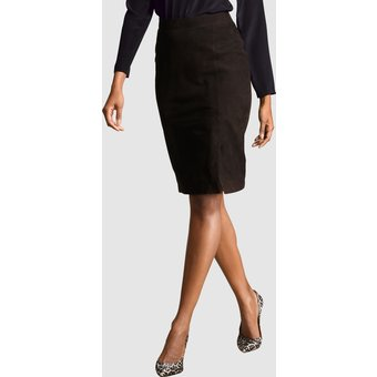 Alba Moda Lederrock aus hochwertigem Velours-Leder