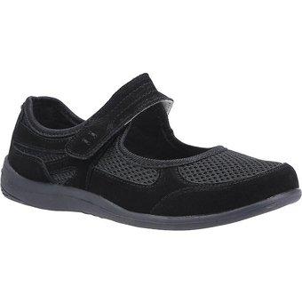 Fleet Foster Klettschuh Damen Morgan Klettverschluss Wildleder-Schuhe