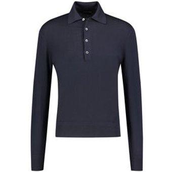 Tom Ford Herren Poloshirt Langarm