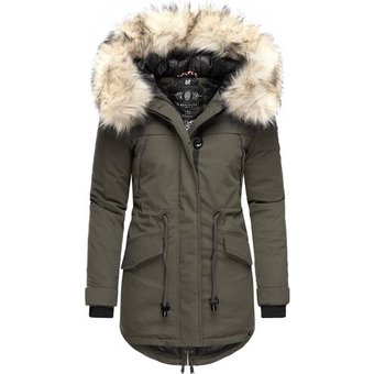 Navahoo Wintermantel Lady Like, Grau, XXL