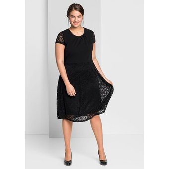 Sheego Cocktailkleid, schwarz, 52