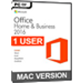 Microsoft Office 2016 Home and Business 1 Nutzer MAC Version