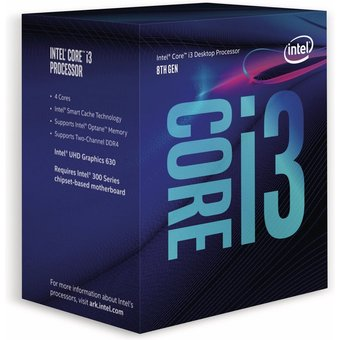 CPU INTEL Core i3-8100, 4x 3,6 GHz
