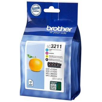 Brother LC3211VAL LC 3211 Value Pack 4-Pack Tintenpatrone Schwarz