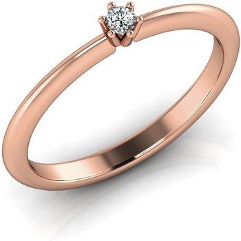 Verlobungsring VR01 585er Rotgold - 9768