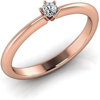 Verlobungsring VR01 750er Rotgold - 9773