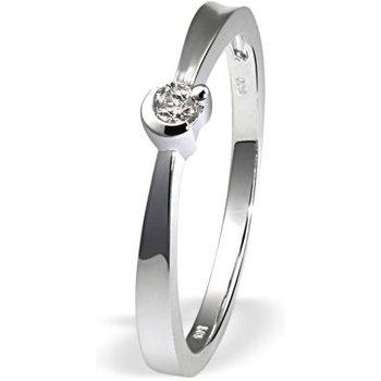 Damenring Verlobungsring 585 Weißgold 1 Brillant 0,08 ct.