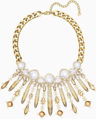 Odysseia Halskette, mehrfarbig, Vergoldet