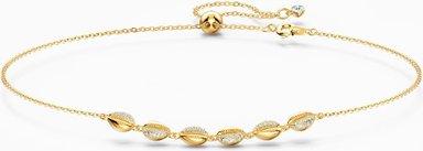 Shell Halsband, weiss, vergoldet