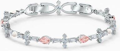 Perfection Armband, rosa, rhodiniert