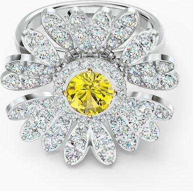 Eternal Flower Ring, gelb, Metallmix