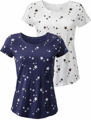 VIVANCE T-Shirt Damen marine+weiß