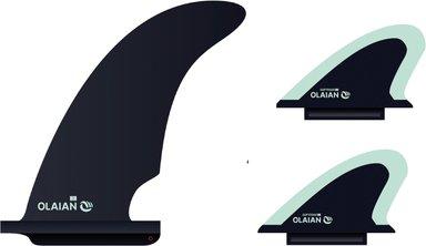 Finnen-Set mit Zentralfinne + 2 Seitenfinnen für Schaumstoff-Longboard