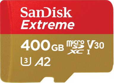 SanDisk Extreme 400GB microSDXC Speicherkarte Kit bis 160MB/s, C10, U3, V30, A2