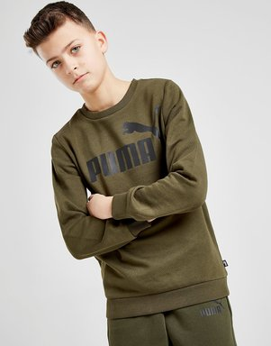 PUMA Core Logo Crew Sweatshirt Junior - Grün - Kids, Grün