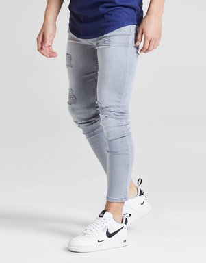 ILLUSIVE LONDON Skinny Washed Ripped Jeans Kinder - Only at JD - Grau - Kids, Grau