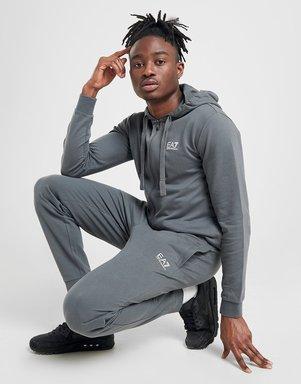 Emporio Armani EA7 Core Fleece Jogginghose Herren - Grau - Mens, Grau