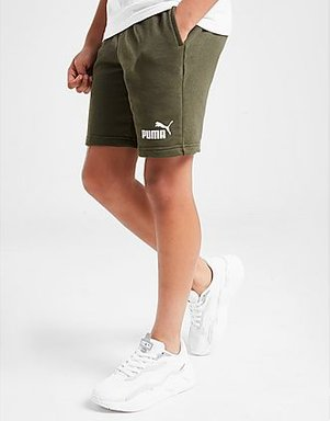 PUMA Coer Logo Shorts Junior - Green - Kids, Green