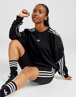 adidas Originals Trefoil Sweatshirt Damen - Only at JD - Black/White, Black/White