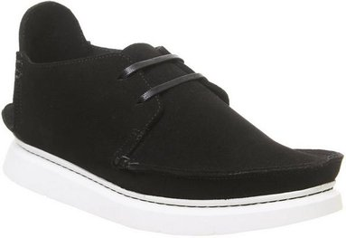 Clarks Originals Seven Shoe BLACK SUEDE,Schwarz