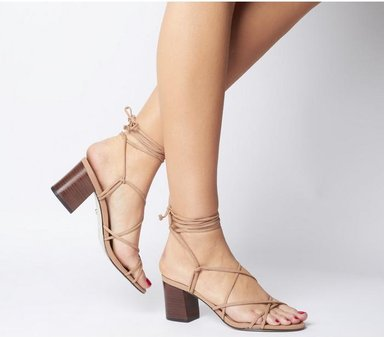 Office Mapletree Super Strappy Block Sandal NUDE NUBUCK WITH STACK,Bunt,Naturfarben