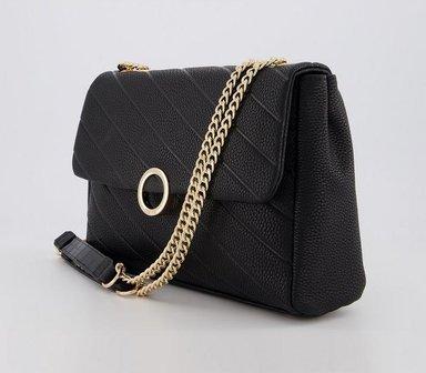 Office Belle - Quilted Bag BLACK,Schwarz,Naturfarben