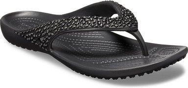 Crocs Kadee II Embellished Flips Damen Black