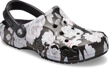 Crocs Baya Seasonal Printed Clogs Unisex Black / Floral