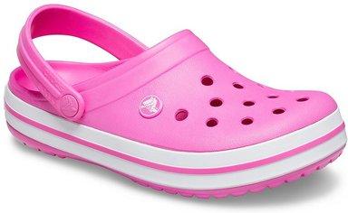 Crocs Crocband™ Clogs Unisex Electric Pink / White