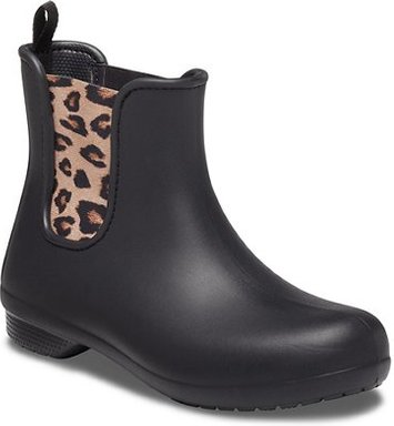 Crocs Freesail Chelsea Boot Stiefel Damen Leopard / Black