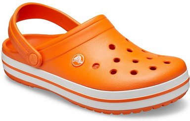 Crocs Crocband™ Clogs Unisex Orange / White