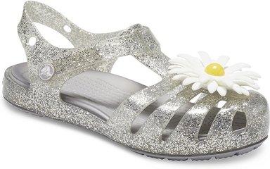 Crocs Isabella Charm Sandalen Kinder Silver