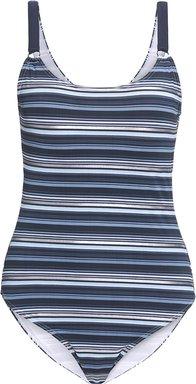Damen Badeanzug mit glänzenden Streifen