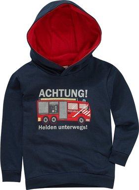 Jungen Sweatshirt mit Feuerwehr-Motiv