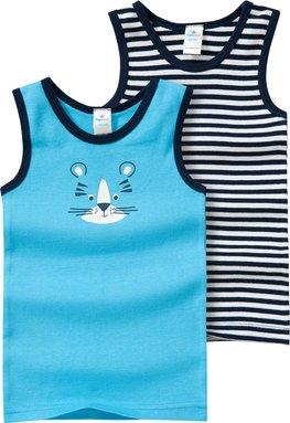 2 Baby Unterhemden mit Löwen-Motiv