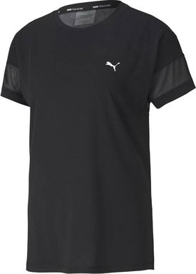 PUMA Damen T-Shirt Feel It Mesh Logo