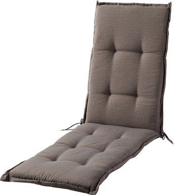 GO-DE Relaxauflage Torba ¦ grau ¦ garngefärbtes Uni, 60% Baumwolle, 40% Polyester ¦ Maße (cm): B: 50 H: 7 - Höffner