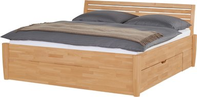 Massivholz-Bettgestell mit Bettkasten Timber ¦ holzfarben ¦ Maße (cm): B: 176 H: 93 - Höffner