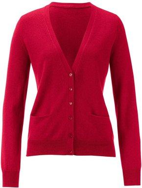 Strickjacke aus 100% PREMIUM Kaschmir Modell Sina Peter Hahn Cashmere rot