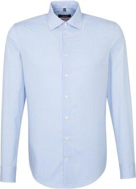 Bügelfreies Popeline Business Hemd in Slim mit Kentkragen