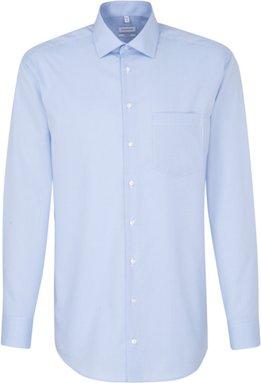 Bügelfreies Popeline Business Hemd in Comfort mit Kentkragen