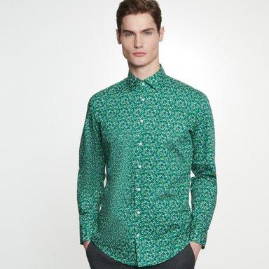 Bügelleichtes Popeline Business Hemd in Slim mit Kentkragen