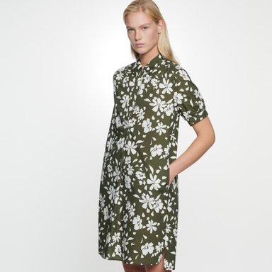 Popeline Midi Kleid aus 100% Baumwolle