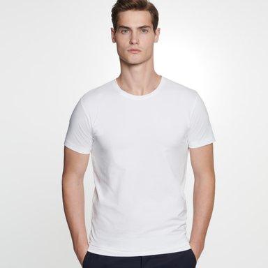 Rundhals T-Shirt aus 95% Baumwolle 5% Elastan